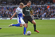 Gavin Reilly (20) of Bristol Rovers shoots at goal during the EFL Sky Bet League 1 match between Bristol Rovers and Plymouth Argyle at the Memorial Stadium, Bristol, England on 8 September 2018.