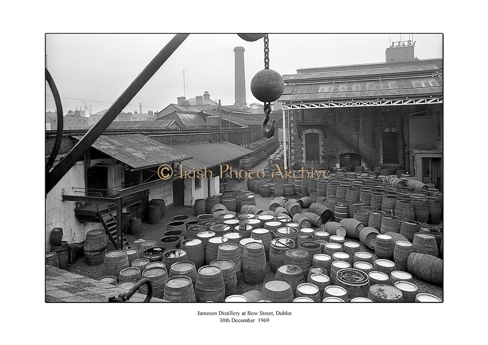 Jameson Whiskey distillery at Bow Street, Dublin.<br /> <br /> 30th December 1969<br /> <br /> 30.12.1969