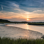 Sunset at the Rough Meadows Wildlife Refuge, Rowley, Massachusetts