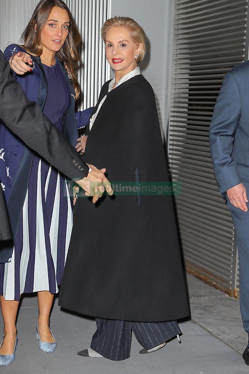Carolina Herrera is seen leaving her last fashion week show with her husband in New York City. 12 Feb 2018 Pictured: Carolina Herrera. Photo credit: ZapatA/MEGA TheMegaAgency.com +1 888 505 6342
