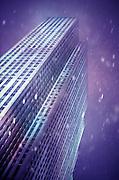 30 Rockefeller Center in snow storm, NY, NY