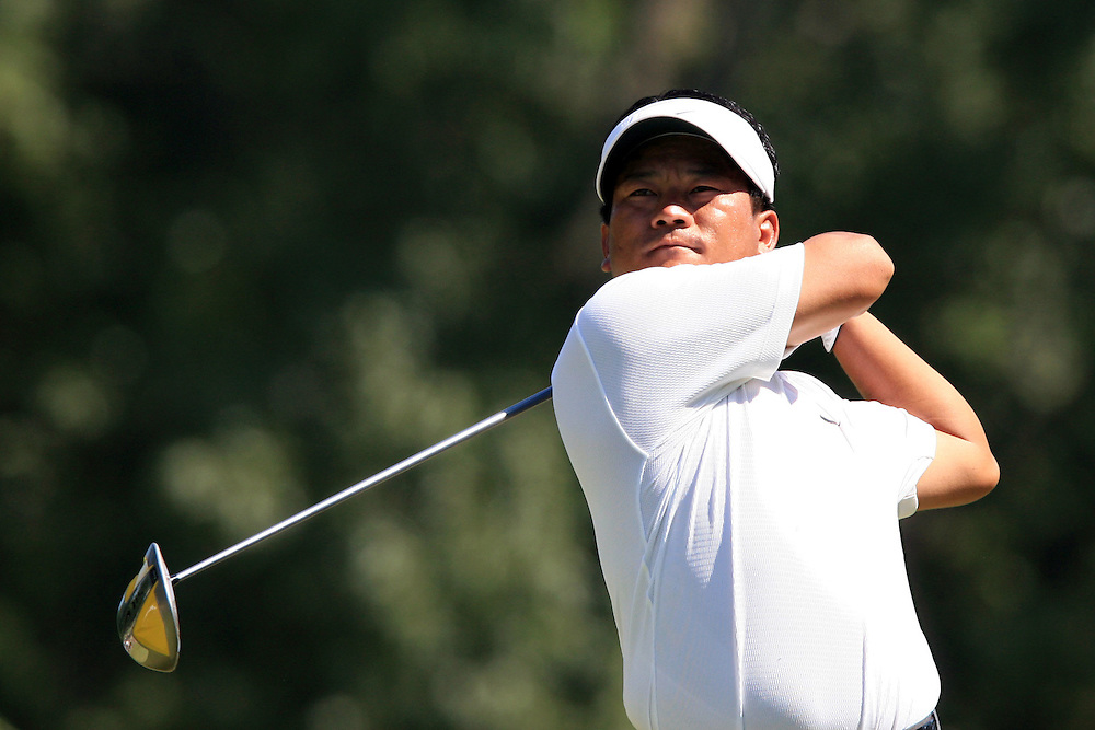 12 August 2007: K.J. Choi drives off the 13th tee during the final round of the 89th PGA Championship at Southern Hills Country Club in Tulsa, OK.
