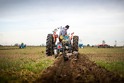 © Licensed to London News Pictures. 04/03/2017. Barnby Dun UK. Competitors from England, Scotland, Northern Ireland, Wales & the Republic of Ireland are putting their ploughing skills to the test this weekend in the 5 Nations Ploughing Contest held in Barnby Dun near Doncaster. Photo credit: Andrew McCaren/LNP