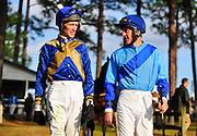 Colonial Cup - Camden, South Carolina. Jockeys Paddy Young and Bernie Dalton.