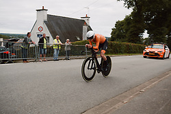 Elise Uijen (NED) at the 2020 UEC Road European Championships - Junior Women ITT, a 25.6 km individual time trial in Plouay, France on August 24, 2020. Photo by Sean Robinson/velofocus.com
