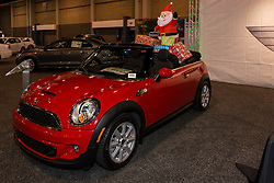 CHARLOTTE, NORTH CAROLINA - NOVEMBER 20, 2014: BMW Mini convertible on display during the 2014 Charlotte International Auto Show at the Charlotte Convention Center.