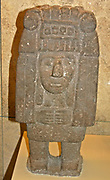 Standing figure of Chicomecoatl the Aztec goddess of corn and harvest. AD 1300-1521