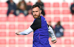 Republic of Ireland's Richard Keogh warms up prior to the UEFA Euro 2020 Qualifying, Group D match at the Victoria Stadium, Gibraltar.