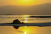 Israel, the Dead Sea at sunset