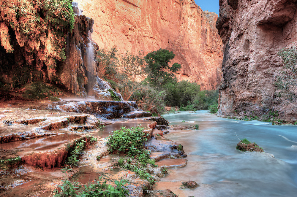 A view somewhat downstream from Mooney Falls.