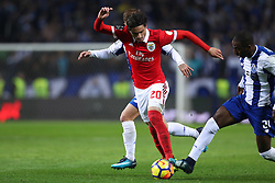 December 1, 2017 - Porto, Porto, Portugal - Benfica's Croatian midfielder Filip Krovinovic (L) vies with Porto's Portuguese defender Ricardo Pereira (R) during the Premier League 2016/17 match between FC Porto and SL Benfica, at Dragao Stadium in Porto on December 1, 2017. (Credit Image: © Dpi/NurPhoto via ZUMA Press)