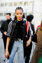 Street style, model Rachel Darby after Chloe spring summer 2019 ready-to-wear show, held at Maison de la Radio, in Paris, France, on September 27th, 2018. Photo by Marie-Paola Bertrand-Hillion/ABACAPRESS.COM