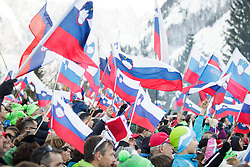 Slovenian flags during the Ski Flying Hill Individual Competition at Day 2 of FIS Ski Jumping World Cup Final 2016, on March 18, 2016 in Planica, Slovenia. Photo by Ziga Zupan / Sportida