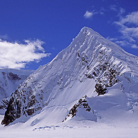 Mount Berry rises above the Calley Glacier on the Antarctic Peninsula, Antarctica.
