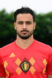 June 5, 2018 - Tubize, BELGIUM - Belgium's Nacer Chadli poses for the photographer during the official team photo of the Belgian national soccer team Red Devils, Tuesday 05 June 2018, in Tubize. The Red Devils started their preparations for the upcoming FIFA World Cup 2018 in Russia. BELGA PHOTO POOL NICO VEREECKEN (Credit Image: © Pool Nico Vereecken/Belga via ZUMA Press)