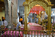 India, Delhi, Interior of the Bangla Sahib Sikh Temple