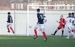 Falkirk's Thomas Grant (7) scoring their first goal..half time : Dumbarton v Falkirk, 23/2/2013..©Michael Schofield.