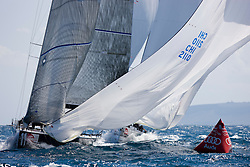 © Sander van der Borch. Alicante - Spain, May 13th 2009. AUDI MEDCUP in Marseille (12/17 May 2009). Race 2,3 and 4. Pisco Sour bottom mark rounding.