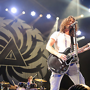 FAIRFAX, VA - July 12th, 2011 - Matt Cameron and Chris Cornell of reunited grunge heavyweights Soundgarden perform at the Patriot Center in Fairfax, VA. The band reunited last year after a 12 year break and are currently writing new material for an album to be released in 2012.  (Photo by Kyle Gustafson/For The Washington Post)