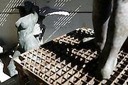 Ghent, Belgium, Aug 2005, Processing of bronze into pieces of art. PHOTO © Christophe Vander Eecken