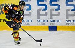 Jan Bobnaric of Slavija  at SLOHOKEJ league ice hockey match between HK Slavija and HK Triglav Kranj, on February 3, 2010 in Arena Zalog, Ljubljana, Slovenia. Triglaw won 4:1. (Photo by Vid Ponikvar / Sportida)