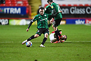 Charlton's Conor Washington during the EFL Sky Bet League 1 match between Charlton Athletic and Rochdale at The Valley, London, England on 12 January 2021.