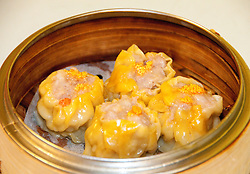 San Francisco: Chinatown dim sum dining at Hang Ah restaurant, har gau with shrimp, shrimp dumplings.  Photo copyright Lee Foster. Photo # casanf104333