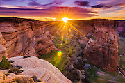 Sunrise over Canyon del Muerto, Canyon de Chelly National Monument, Arizona