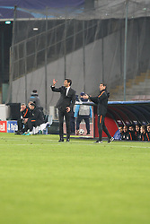 November 21, 2017 - Napoli, Campania/Napoli, Italy - Soccer match between SSC Napoli  and   FC Shakhtar Donetsk    at San Paolo  Stadium in Napoli .final result Napoli vs. FC Shakhtar Donetsk   3-0.In photo , Paulo Alexandre Rodrigues Fonseca (Coach) (Credit Image: © Salvatore Esposito/Pacific Press via ZUMA Wire)