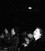 """15/02/1953<br /> 02/15/1953<br /> 15 February 1953<br /> Radio Eireann """"Question Time"""" general-knowledge quiz show trial at the Phoenix Hall, Dublin. View of audience."""