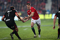 Rugby Union - 2017 British & Irish Lions Tour of New Zealand - Crusaders vs. British & Irish Lions<br /> <br /> Jonathan Sexton of The British and Irish Lionsis closed down by Joe Moody of The Crusaders at AMI Stadium [Rugby League Park], Christchurch.<br /> <br /> COLORSPORT/LYNNE CAMERON