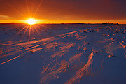 Sunrise over the prairie<br /> St. Anne's<br /> Manitoba<br /> Canada