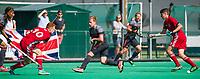 St.-Job-In 't Goor / Antwerpen -  6Nations U23 -  Jack Waller (GB) met Ties Klinkhamer en Matt Ramshaw   Nederland Jong Oranje Heren (JOH) - Groot Brittannie .  COPYRIGHT  KOEN SUYK