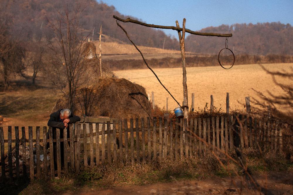 Rakija production in the village of Trudelj, Serbia. November 2011.
