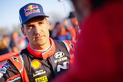 April 7, 2018 - Corse, France - Dani Sordo (ESP) Ð Carlos Del Barrio (ESP) - Hyundai i20 WRC (Credit Image: © Panoramic via ZUMA Press)