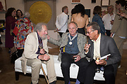 ANTHONY EYTON; NORMAN AKROYD; JOHN COOMBE, Royal Academy Summer Exhibition party. Burlington House. Piccadilly. London. 6 June 2018