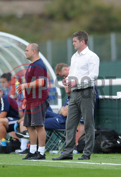 Bristol Academy Womens manager, Dave Edmondson - Photo mandatory by-line: Dougie Allward/JMP - Mobile: 07966 386802 - 28/09/2014 - SPORT - Women's Football - Bristol - SGS Wise Campus - Bristol Academy Women's v Manchester City Women's - Women's Super League