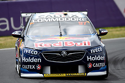 October 7, 2018 - Bathurst, NSW, U.S. - BATHURST, NSW - OCTOBER 07: Shane van Gisbergen / Earl Bamber in the Red Bull Holden Racing Team Holden Commodore around the first corner at the Supercheap Auto Bathurst 1000 V8 Supercar Race at Mount Panorama Circuit in Bathurst, Australia on October 07, 2018 (Photo by Speed Media/Icon Sportswire) (Credit Image: © Speed Media/Icon SMI via ZUMA Press)