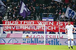"""07.03.2020, Generali Arena, Wien, AUT, 1. FBL, FK Austria Wien vs SKN St. Poelten, 22. Runde, im Bild Banner von Austria Fans """"Austria Wien ist unverkaeuflich -12"""" // banner of fans of Austria during the tipico Bundesliga 22th round match between FK Austria Wien and SKN St. Poelten at the Generali Arena in Wien, Austria on 2020/03/07. EXPA Pictures © 2020, PhotoCredit: EXPA/ Florian Schroetter"""