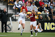 04 December 2011: Duke's Maddy Haller (18) and Stanford's Teresa Noyola (7). The Stanford University Cardinal defeated the Duke University Blue Devils 1-0 at KSU Soccer Stadium in Kennesaw, Georgia in the NCAA Division I Women's Soccer College Cup Final.