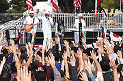 Reggae Singer Pato Banton and Band Performs at Bernie Sanders Rally in Santa Ana