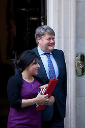 © Licensed to London News Pictures. 05/09/2012. LONDON, UK. Lord Strathclyde, Leader of the Lords, is seen leaving Number 10 Downing Street in London today (05/09/12) after attending the first cabinet meeting after a cabinet reshuffle that took place yesterday (04/09/12).  Photo credit: Matt Cetti-Roberts/LNP