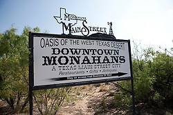 Sign, Monahans, Texas.