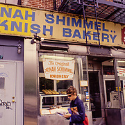 Yonah Schimmel has been serving knishes, kugel, latke as well as classic New York drinks like Egg Creams and Lime Rickeys since 1910. Located in the historic Lower East Side, Yonah Schimmel Knish Bakery is a slice of historic New York that's becoming more and more rare.