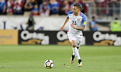September 1, 2017 - Harrison, NJ, USA - Harrison, N.J. - Friday September 01, 2017:   Fabian Johnson during a 2017 FIFA World Cup Qualifying (WCQ) round match between the men's national teams of the United States (USA) and Costa Rica (CRC) at Red Bull Arena. (Credit Image: © John Dorton/ISIPhotos via ZUMA Wire)