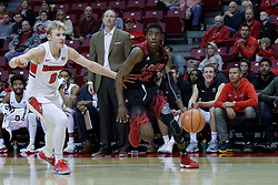05 November 2017:  Dre Bell drives for the hoop guarded by Isaac Gassman during aLewis College Flyers and Illinois State Redbirds in Redbird Arena, Normal IL