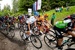 Ilnur ZAKARIN of GAZPROM – RUSVELO and peloton on the top fo the climb Lipa during 2nd Stage of 27th Tour of Slovenia 2021 cycling race between Zalec and Celje (147 km), on June 10, 2021 in Slovenia. Photo by Matic Klansek Velej / Sportida