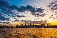 East River, New York, New York USA.