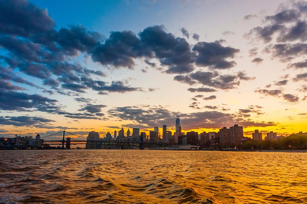 East River, New York, New York USA.