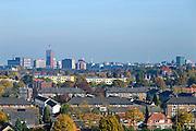Nederland, Nijmegen, 27-10-2015Panorama vanuit de lucht van de skyline van de stad. Op de voorgrond de wijk Heseveld. Deze multiculturele wijk was een achterstandswijk, maar wordt door de gemeente en met steun van het rijk leefbaarder gemaakt. Foto: Flip Franssen/Hollandse Hoogte